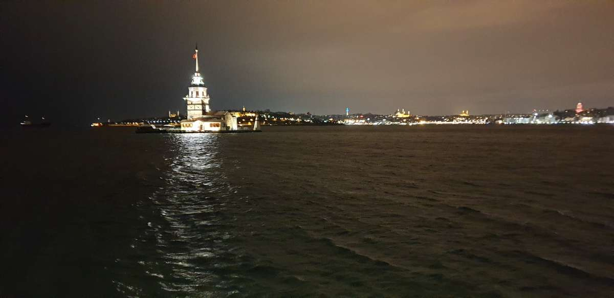 maiden tower at night
